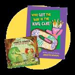 Swamp Romp CD and KIng Cake book
