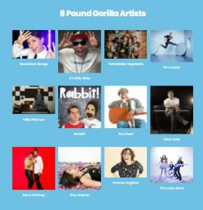 8 Pound Gorilla Records Artist Roster